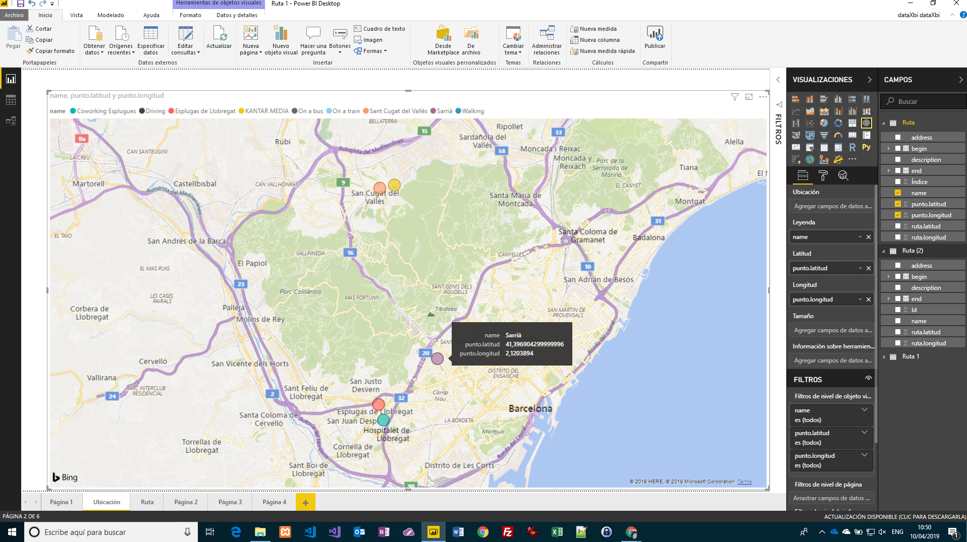 Conectar y visualizar archivos KML con Power BI Desktop