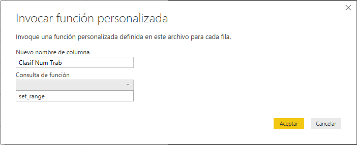 Crear y usar funciones en Power Query