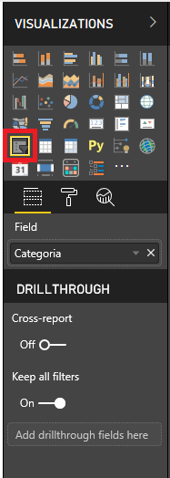 Panel Visualizaciones-Segmentador de datos en Power BI Desktop